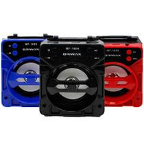 Caixa de Som Portátil Briwax 13cm MF-1609 Amplificada Bluetooth USB MP3 Rádio FM SD