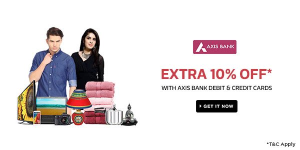 Axis Bank Debit & Credit Cards | Extra 10% Off