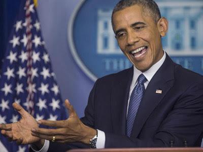 Obama, durante la rueda de prensa. EFE