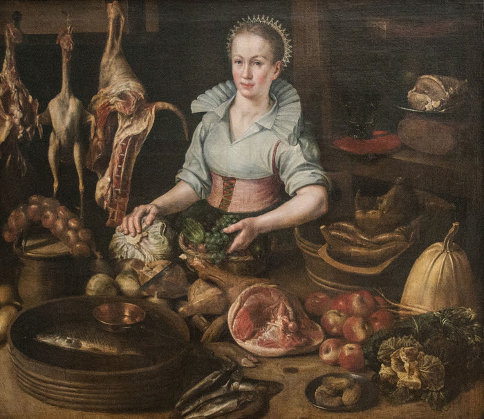 Lucas_Van_Valckenborch_(circle_of)_-_The_Kitchen_Maid (700x605, 502Kb)