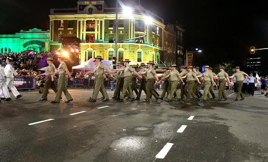 Our defence force should be above politics, yet here they are marching in Australia's most politically charged protest while in uniform.