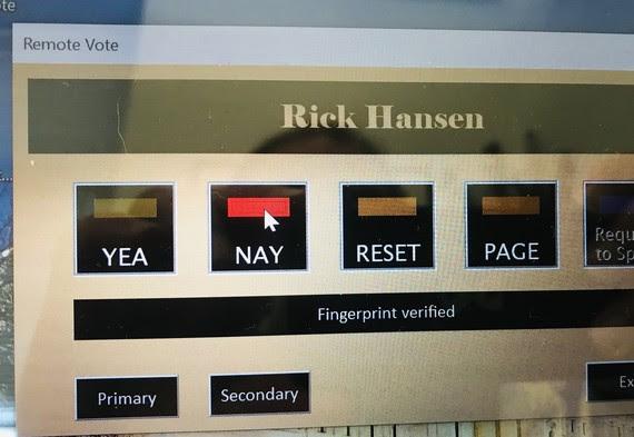 Hansen First Vote