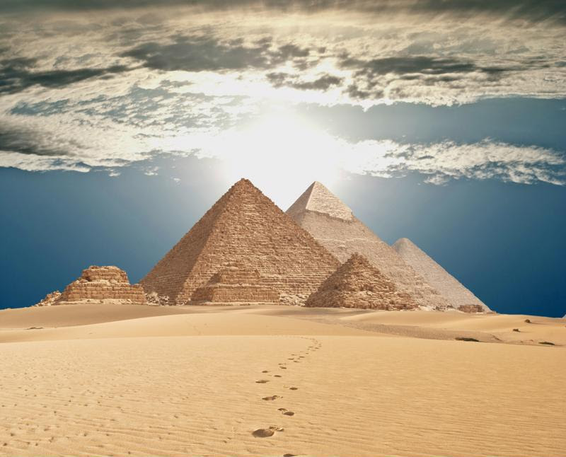The Pyramids of Giza are over 4,500 years old.