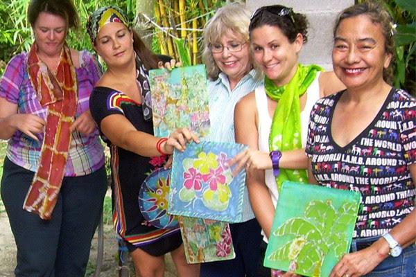 Judy Flores Batiks class group Guam