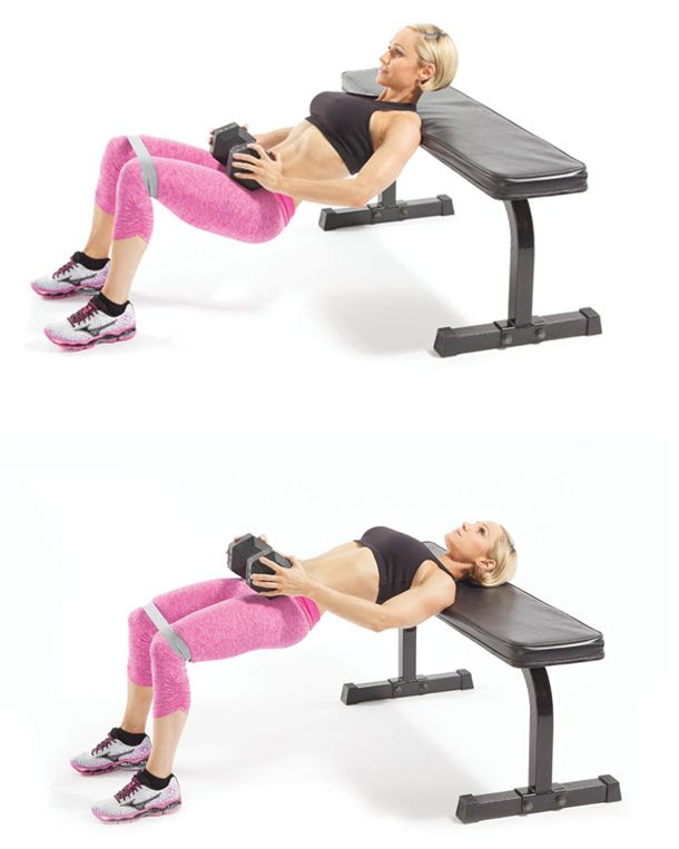 Image result for hip butt extension on a bench