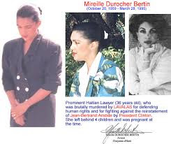 28 Mars 2014: Assassinat de Mireille Durocher Bertin, Dix Neuf Ans Apres par Stanley Lucas
