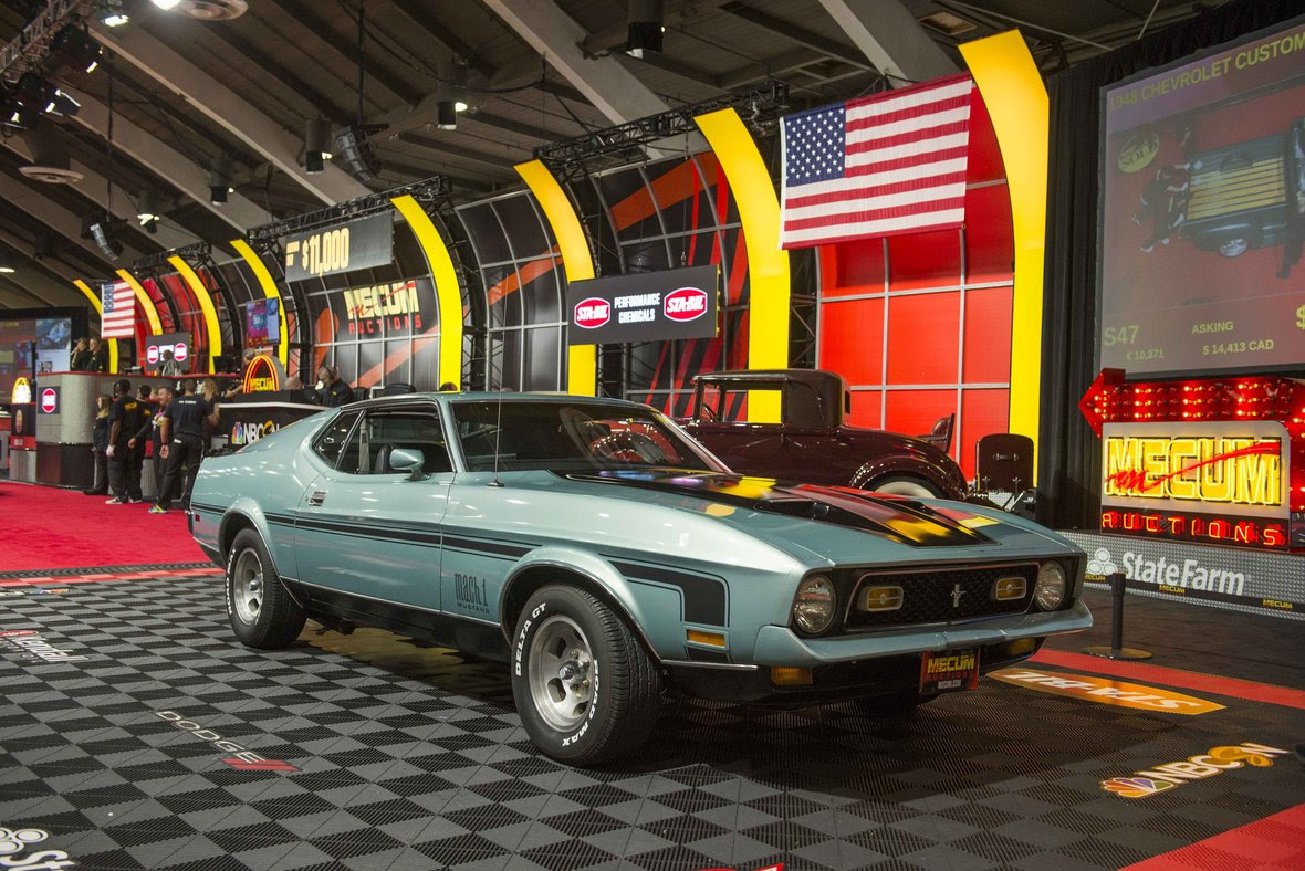mecum 72 Ford Mustang Mach1 Fastback