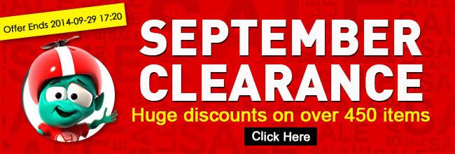 September clearance - huge discounts on over 450 items at Crazysales.com.au