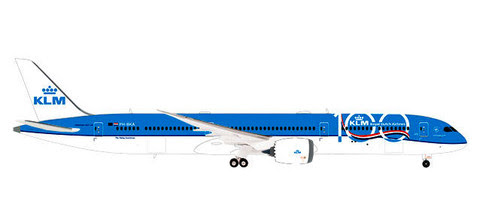 Boeing 787-10 Dreamliner - 100th Anniversary KLM (plastic with stand) | is due: October/November 2019