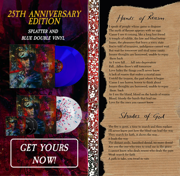 25th Anniversary Edition; Splatter and blue double vinyl. Get yours now!
