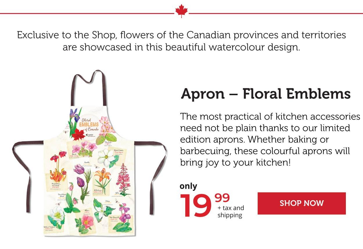 Apron - Floral Emblems
