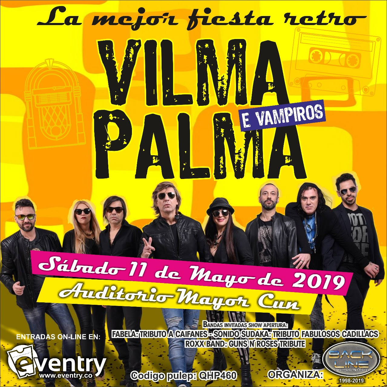 VILMA PALMA E VAMPIROS en Colombia