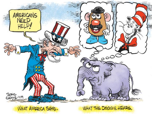GOP, REPUBLICANS, AMERICA, UNCLE SAM, THE CAT IN THE HAT, MR POTATO HEAD, HASBRO, DR. SEUSS, CANCEL CULTURE