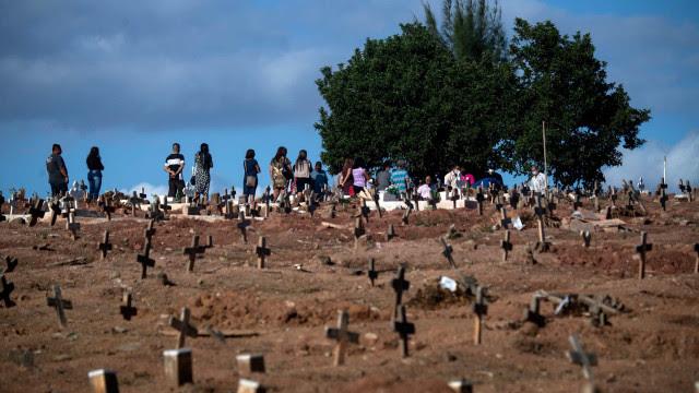 Brasil registra 1.018 mortes por Covid e mais de 31 mil casos da doença em 24 h