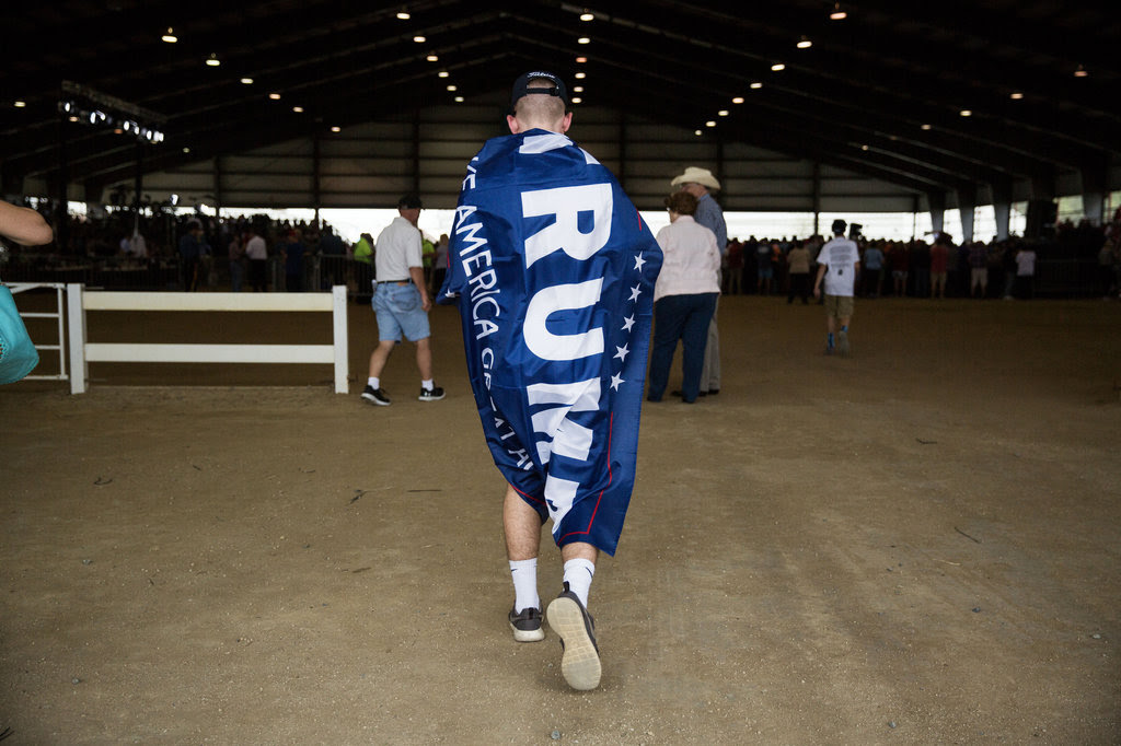 A Donald J. Trump supporter at a campaign rally in Harrington, Del., last week.