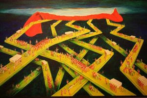 The Final Judgment, an oil on canvas painting Ribeiro Santiago created in 1997