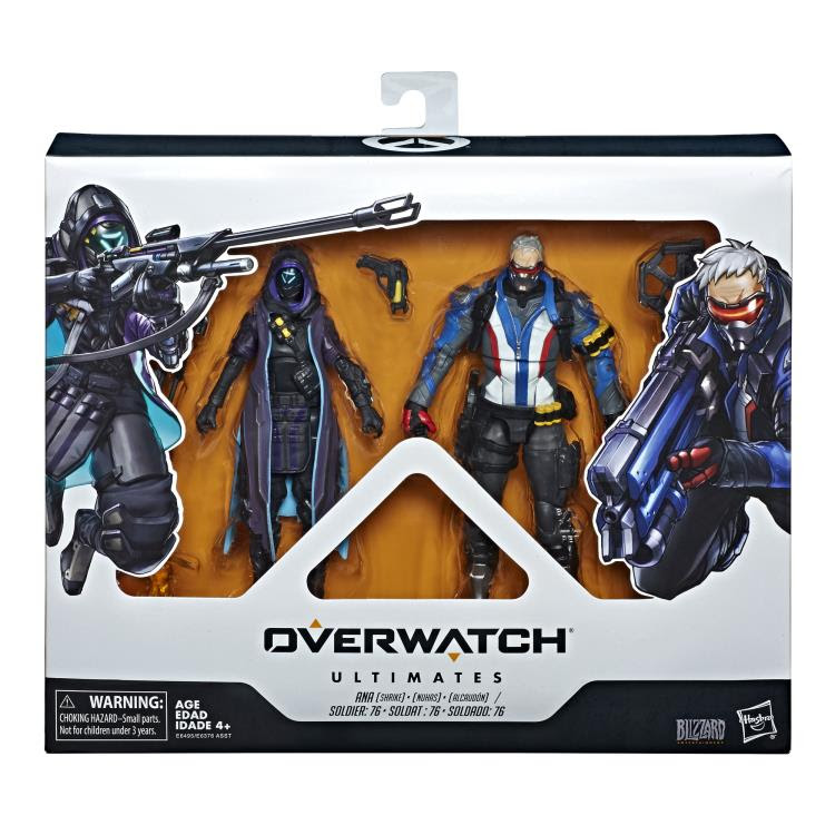 Image of Overwatch Ultimates Ana and Solider Two Pack Action Figures