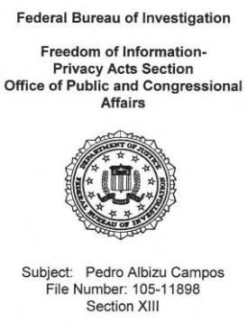 FBI files, known as carpetas