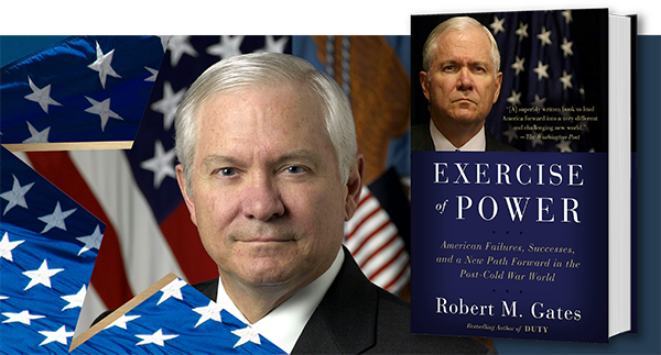Online at the Reagan Library with Secretary of Defense Robert Gates