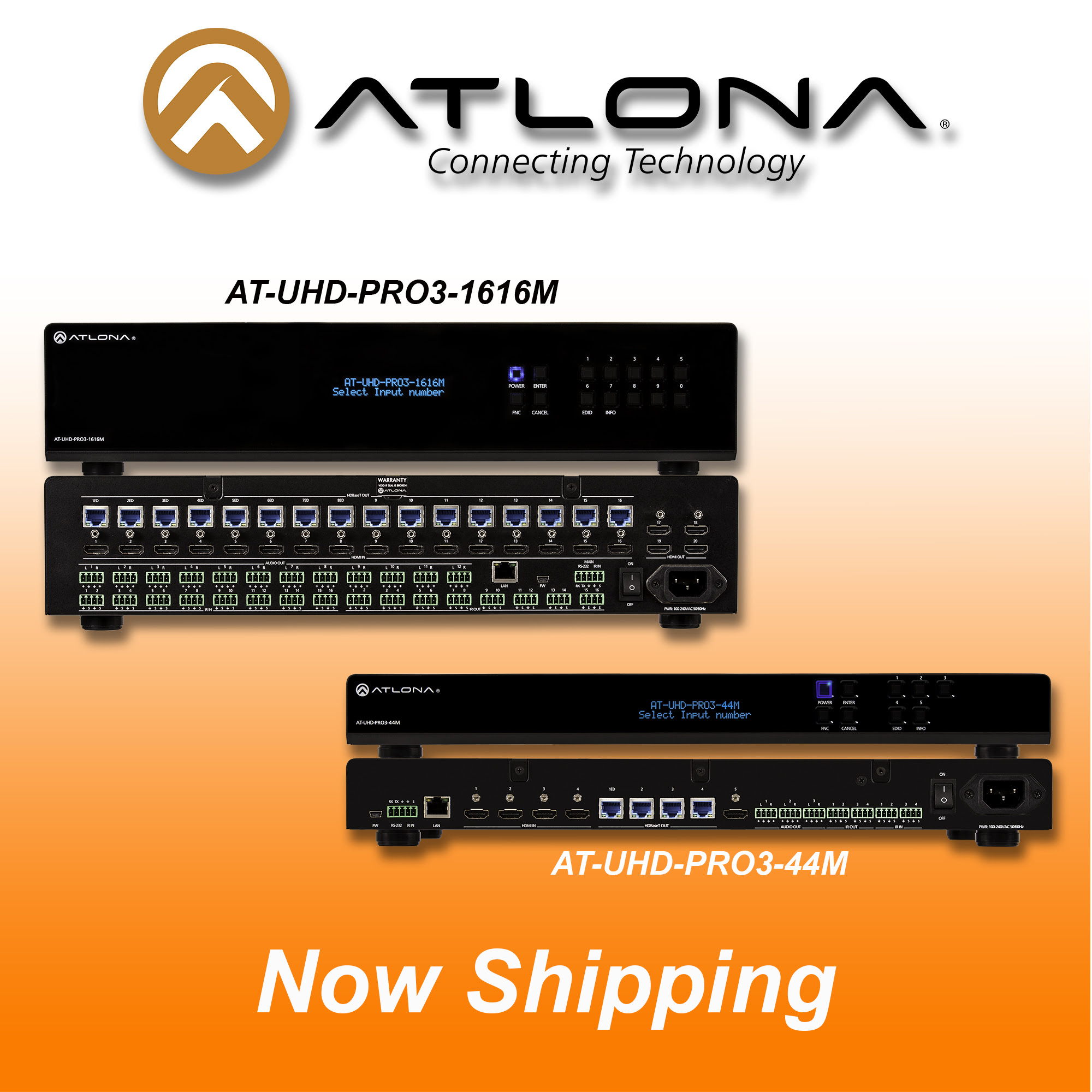 Atlona announced 4K/UHD Series of Matrix Switchers