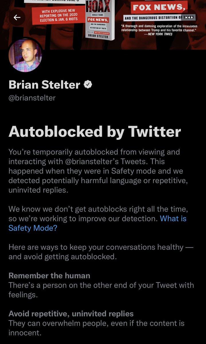 Weird message from Twitter