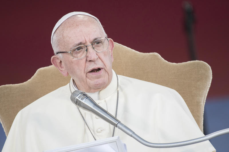 """Victims should know that [Pope Francis] is on their side,"" a Vatican spokesman said in a statement, which called for ""accountability for both abusers and those who permitted abuse to occur."" (NurPhoto / Getty Images)"