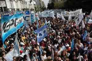 Paro de empleados públicos en Argentina