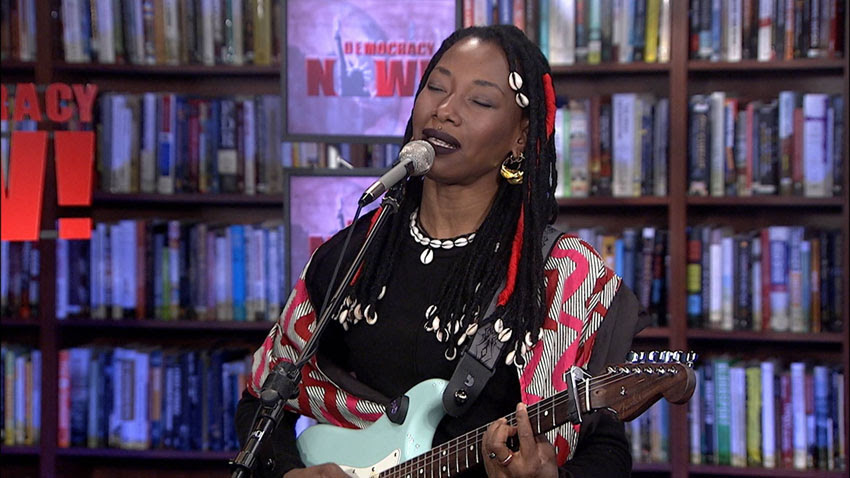 In 2018, Malian Singer Fatoumata Diawara performed in the Democracy Now! studio.