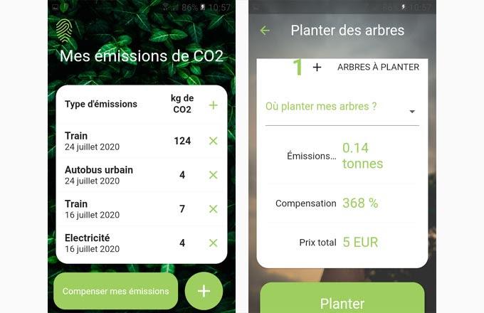 Captures d'écran de l'application mobile Irokko