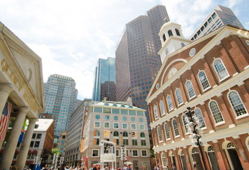 Historic sites and modern skyscrappers alike call downtown Boston home.