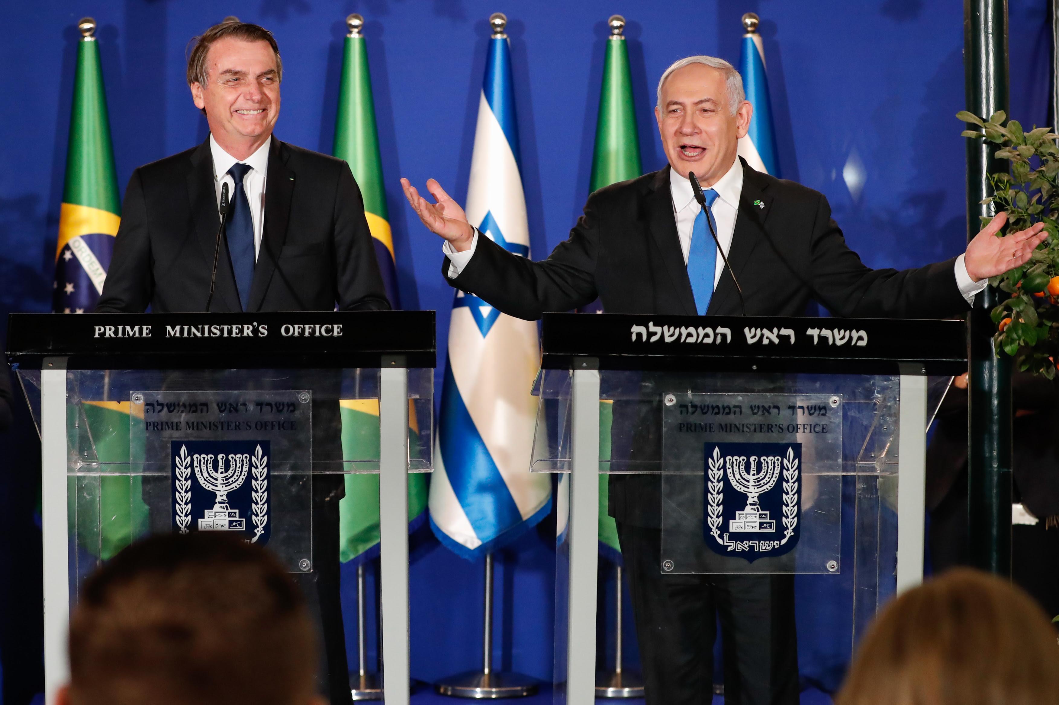 Bolsonaro diz que é um direito dos palestino reclamar