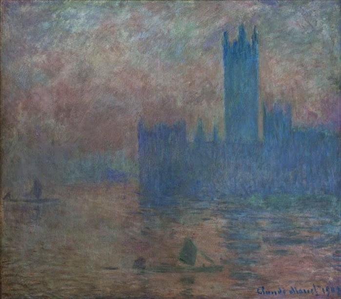 Клод Моне Здание парламента, эффект тумана  1903 (700x614, 95Kb)