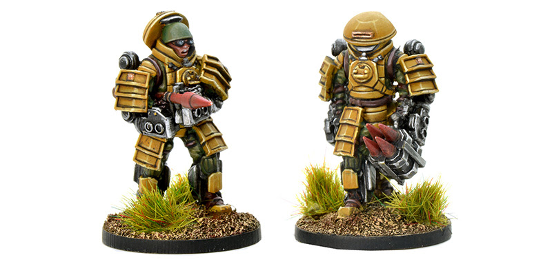 New Konflikt '47 Japanese Battle Frame Anti-Tank Team