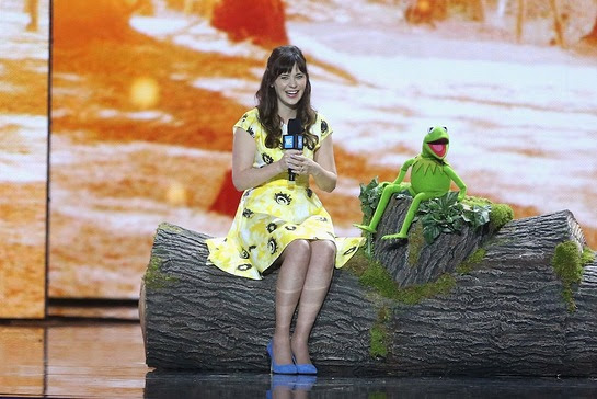 Zooey Deschanel and Kermit the Frog share why it's important to be green during the WE Day broadcast on ABC