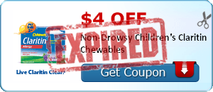 $4.00 off Non-Drowsy Children's Claritin Chewables