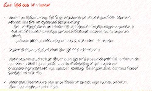 Voorbeeld van een sheet met veel te veel woorden