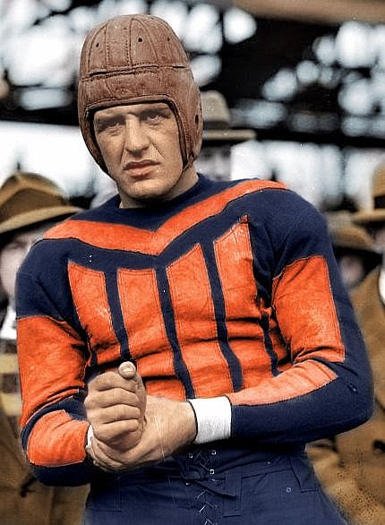 Red Grange Colorized