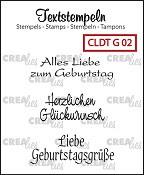 Deutsche Textstempeln G 02