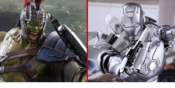 HOT TOYS IRON MAN MARK II & GLADIATOR HULK