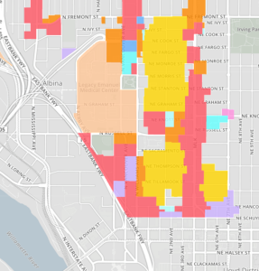 Map of zoning changes in Eliot