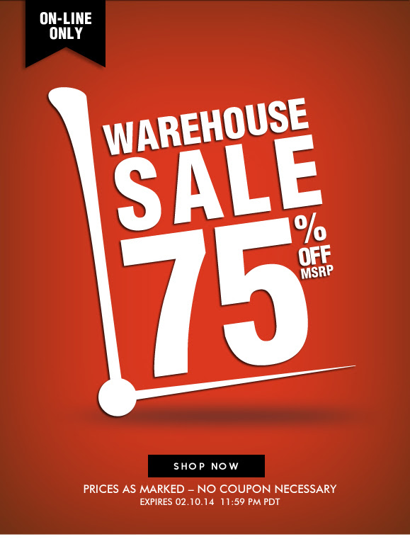Save 75% OFF Warehouse Sale at Hartstrings.com