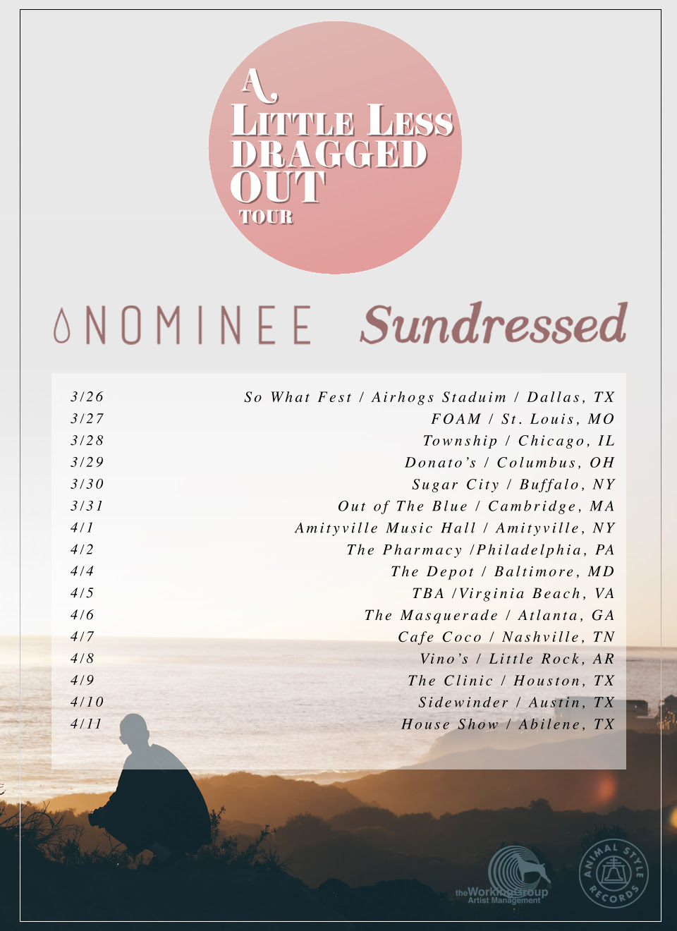 sundressed a little less dragged out tour