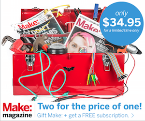 Give the gift of Make: magazine
