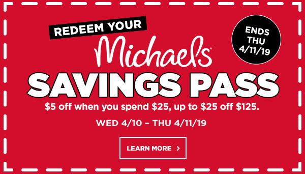 Redeem Michaels Savings Pass