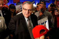 Sheriff Joe Arpaio of Maricopa County, Ariz., at a campaign rally for Donald J. Trump in August in Phoenix.