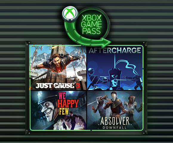 Game characters from Just Cause 3, We Happy Few, Aftercharge, and Absolver.