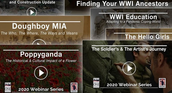 Webinars about WWI for a locked down public