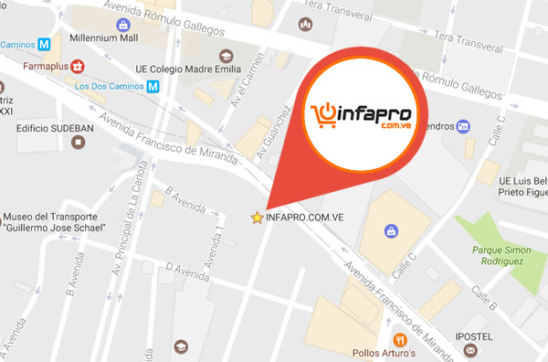 Mapa de la tienda infapro.com.ve