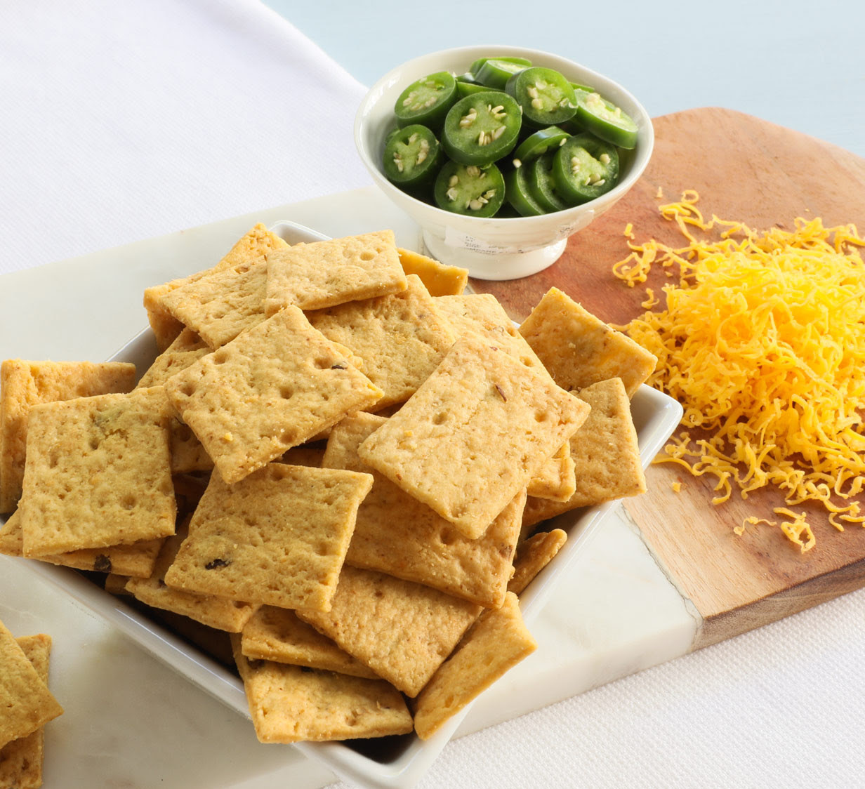 Cheddar & Hatch Chile Crackers