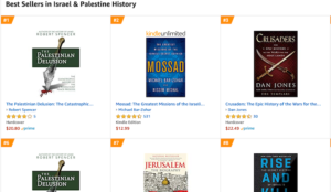 "The Palestinian Delusion Now #1 Bestseller in ""Israel & Palestine History"""